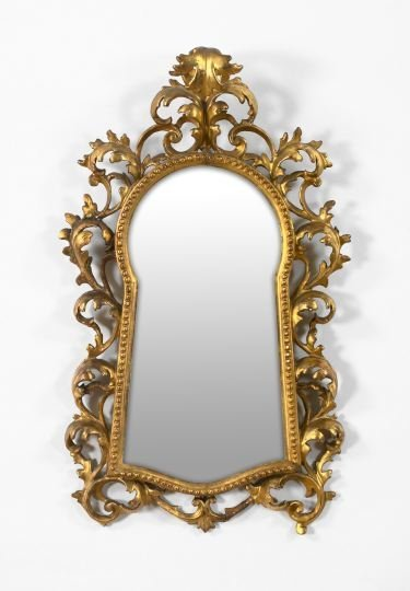 5: Unusual Florentine Carved Giltwood Mirror