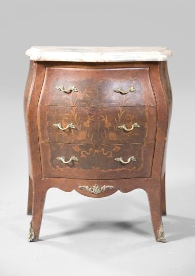 12: Regence-Style Kingwood and Marble-Top Commode