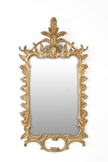 14: Northern Italian Carved Giltwood Mirror