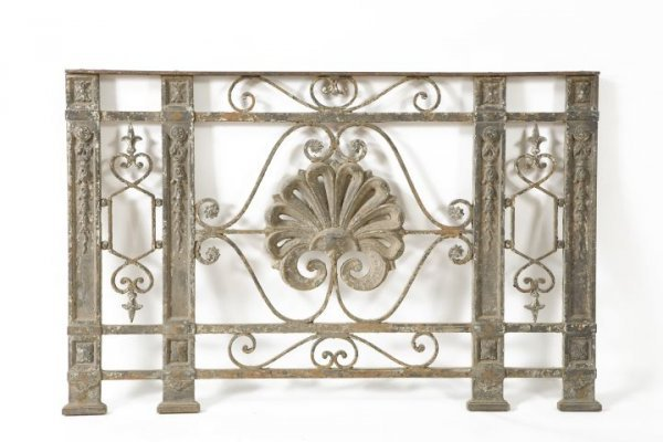15: Ornate Pair of Cast-Iron Fence Panels,