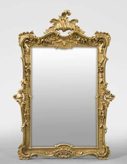 24: Continental Carved Giltwood and Plaster Mirror