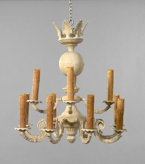 511: Continental Cast-Iron and Brass Chandelier