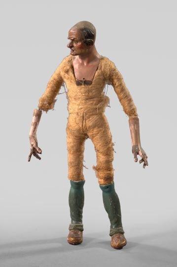 845: Italian Polychromed Wooden Creche Figure