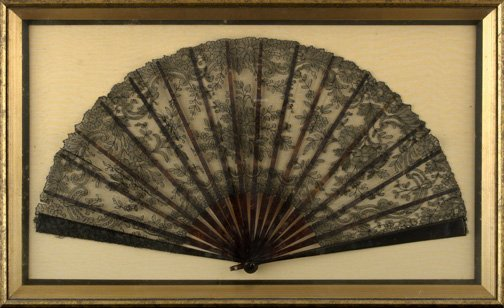 848: Two Framed Evening Fans,