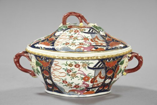 3: Good Worcester Porcelain Covered Tureen,