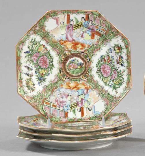 5: Set of Four Chinese Export Porcelain Plates