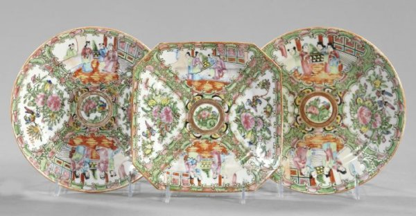 6: Three Oriental Porcelain Plates,