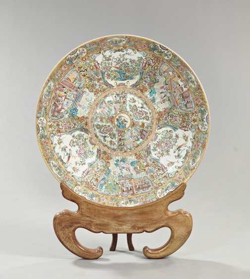 23: Chinese Export Porcelain Charger-on-Stand