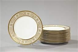239: Charles Ahrenfeldt, Limoges, Porcelain Dinner Plat