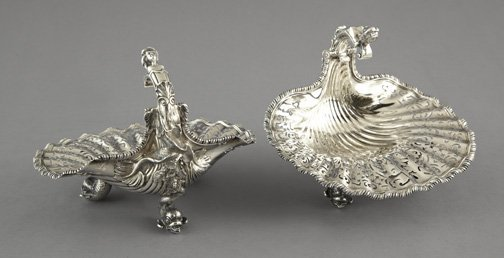 386: George V Sterling Silver Sweetmeats Dishes