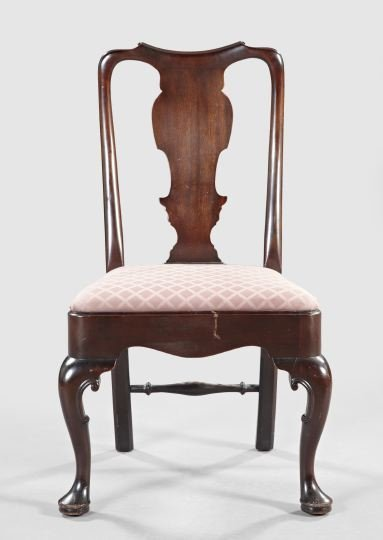 2: Queen Anne-Style Mahogany Sidechair,