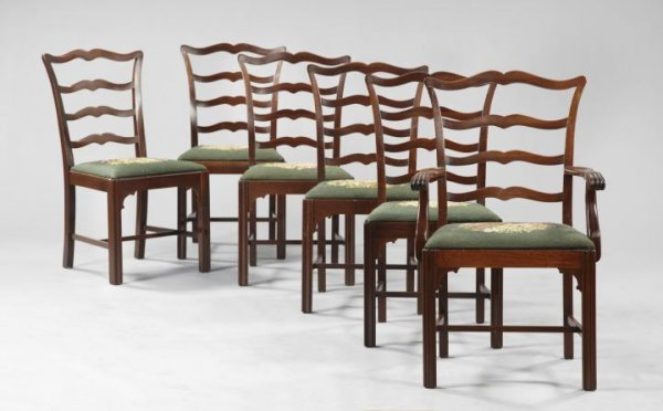 3: George III-Style Mahogany Dining Chairs