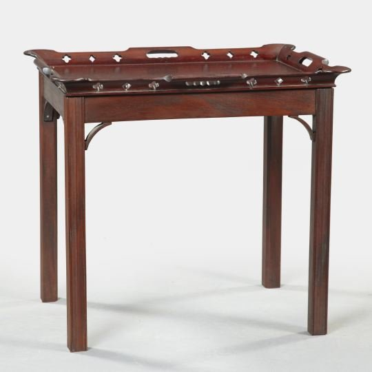 4: George III-Style Mahogany Butler's Tray-on-Stand