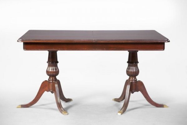 15: George III-Style Mahogany Dining Table,