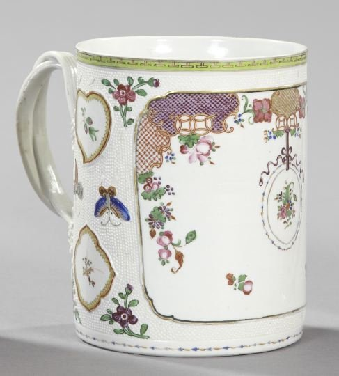 17: Fine, Large Chinese Export Porcelain Tankard,