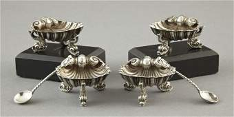 210: Attractive Set of Four English Place Salts,