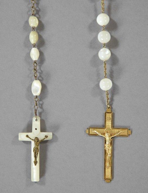Two Pearl Rosaries,