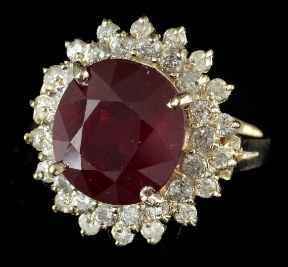 Gold, Ruby and Diamond Lady's Dinner Ring