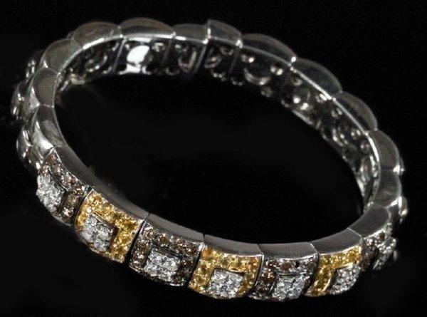 Gold and Fancy Diamond Lady's Link Bracel