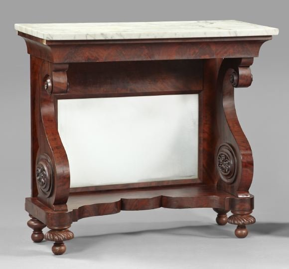 American Late Classical Mahogany Pier Table