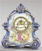 Large Ansonia Porcelain Mantel Clock,