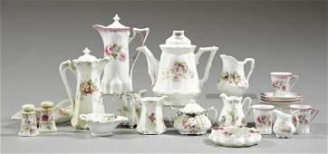 518: Twenty Floral-Decorated Porcelain Table Articles