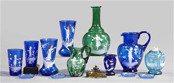 597: Varied Thirteen-Piece Collection of Glass,