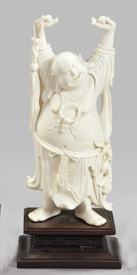 788: Chinese Well-Carved Ivory Tusk Figure,