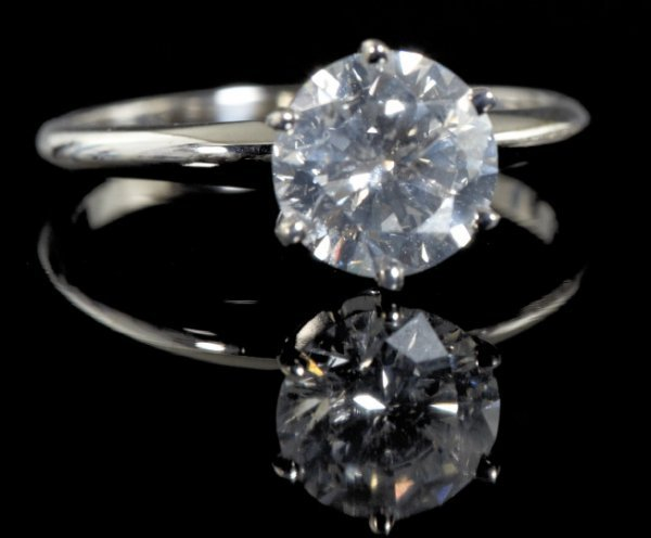 849: Gold and Diamond Solitaire Engagement Ring