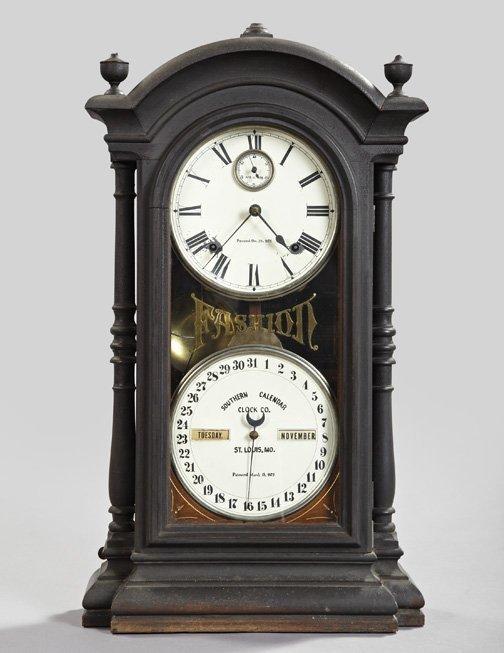 1218: Southern Calendar Clock Company Mantel Clock,