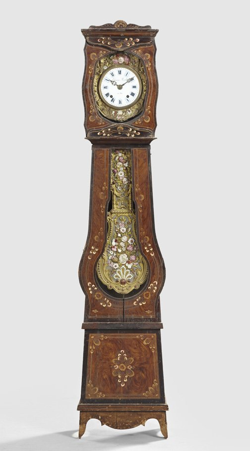 5: French Provincial Polychromed Wedding Clock