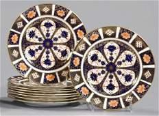 358: Royal Crown Derby Porcelain Dessert Plates