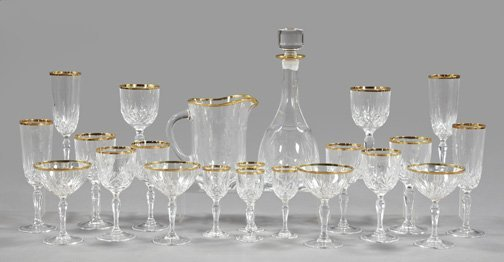 622: Collection of Palace Royal Crystal Rock Stemware S