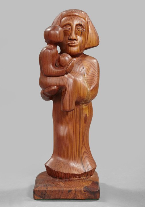 804: Indonesian Carved Wooden Figure