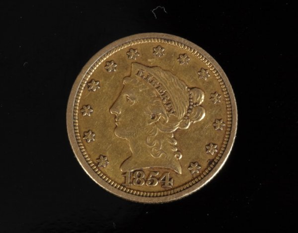 817: Rare U.S. Two-and-a-Half Dollar Gold Coin,