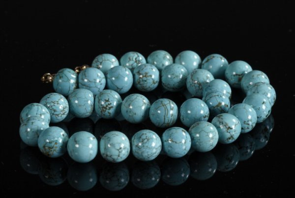 820: Single Strand of Chinese Turquoise Beads,