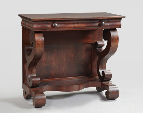 934: American Classical Revival Mahogany Pier Table