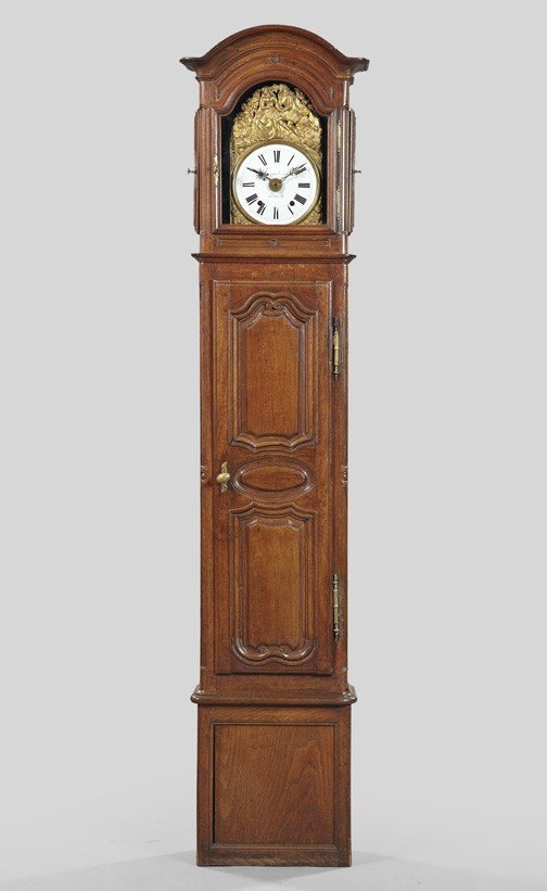 3: French Provincial Oak Tallcase Clock,