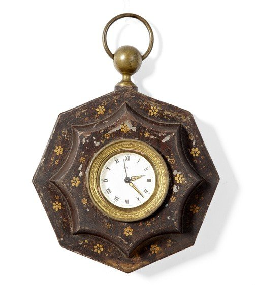 4: French Provincial Brass-Mounted Wall Clock