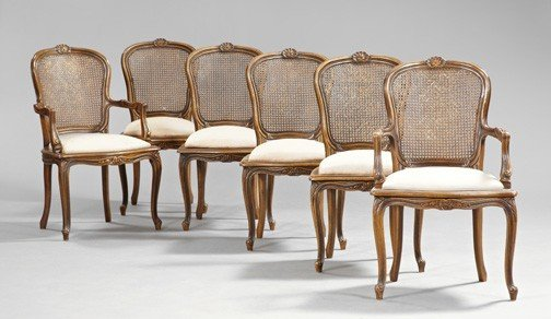 5: Provincial Louis XV-Style Fruitwood Chairs