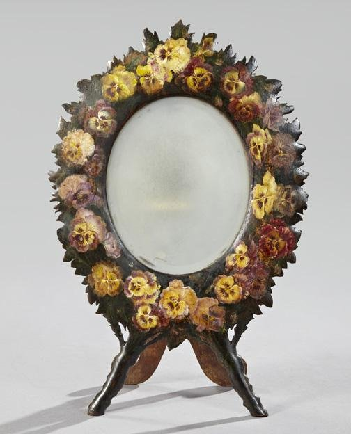 16: Napoleon III Wood Dressing Table Mirror