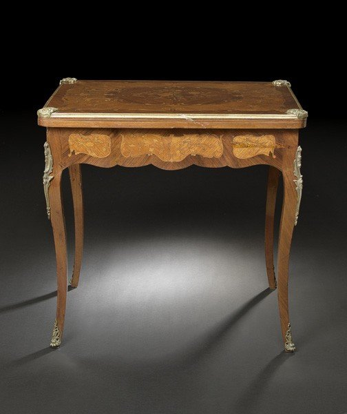 17: Louis XV-Style Kingwood Games Table