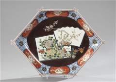 494: Japanese Meiji Imari Porcelain Hexagonal Bowl