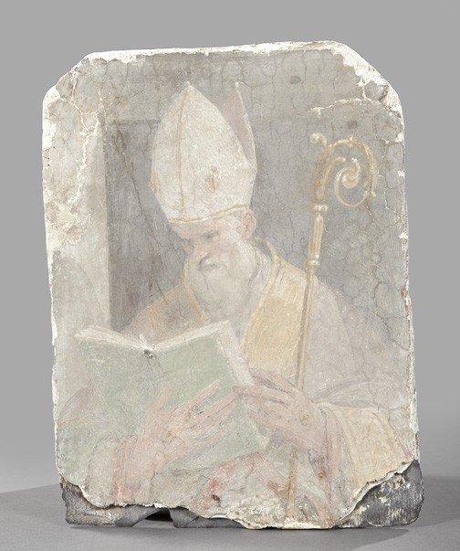 851: Shadowboxed Italian Fresco Fragment
