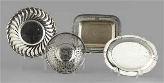 197 English and American Silver  Serving Trays