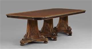 328 RegencyStyle Mahogany Dining Table