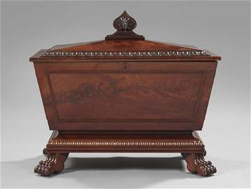 329: William IV Mahogany Sarcophagus-Form Cellarette