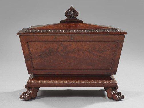 329: William IV Mahogany Sarcophagus-Form Cellarette
