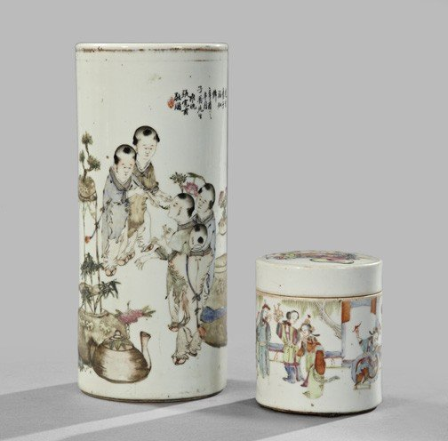688: Two-Piece Group of Kuang Hsu Porcelain Items,