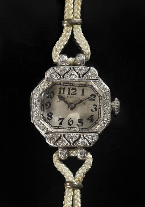 813: Platinum and Diamond Patek Philippe Wrist Watch